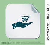 hand holding a shopping cart... | Shutterstock .eps vector #288961370