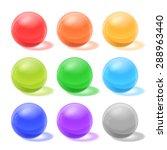 glossy spheres | Shutterstock .eps vector #288963440