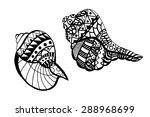 hand drawn seashell. isolated...   Shutterstock .eps vector #288968699