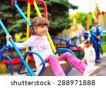 cute happy girl  kid having fun ... | Shutterstock . vector #288971888