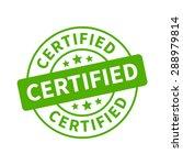 certified stamp  label  sticker ... | Shutterstock .eps vector #288979814
