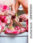 couple drinking turkish tea in... | Shutterstock . vector #288985004