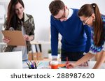 young business people working... | Shutterstock . vector #288987620