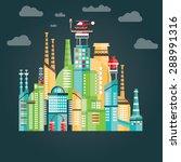 modern vector illustration of... | Shutterstock .eps vector #288991316