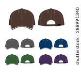 cap template. front and back... | Shutterstock .eps vector #288991340