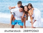 beach  fun  holidays. | Shutterstock . vector #288992063