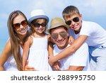 family  beach  latin american... | Shutterstock . vector #288995750