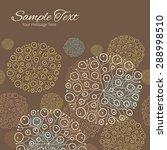 vector blue brown abstract... | Shutterstock .eps vector #288998510