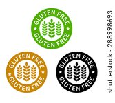no gluten   free food label or... | Shutterstock .eps vector #288998693