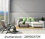 modern interior with furniture. ... | Shutterstock . vector #289003739