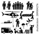 emergency rescue team stick... | Shutterstock .eps vector #289004276