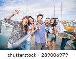 best friends taking a self... | Shutterstock . vector #289006979