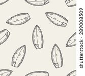 doodle surf seamless pattern... | Shutterstock .eps vector #289008509
