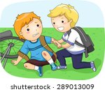 illustration of a little boy... | Shutterstock .eps vector #289013009