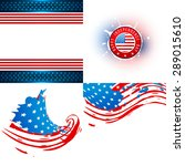 vector collection of american... | Shutterstock .eps vector #289015610