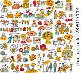 set creative people color... | Shutterstock . vector #289019114