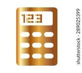 gold vector calculator icon