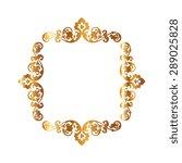 gold illustration of decorative ... | Shutterstock .eps vector #289025828