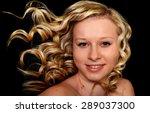 beautiful blonde girl. healthy... | Shutterstock . vector #289037300