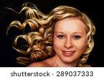 beautiful blonde girl. healthy... | Shutterstock . vector #289037333