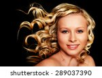 beautiful blonde girl. healthy... | Shutterstock . vector #289037390