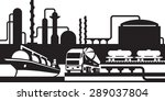 processing and transportation... | Shutterstock .eps vector #289037804