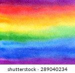 Watercolor Abstract Rainbow...