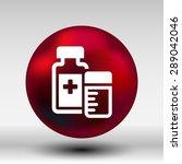 medication icon vector... | Shutterstock .eps vector #289042046