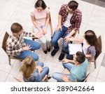 group therapy. group of people... | Shutterstock . vector #289042664