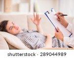 psychologist having session... | Shutterstock . vector #289044989
