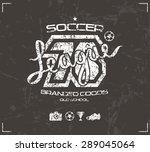 soccer club emblem in retro... | Shutterstock .eps vector #289045064