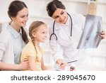 young female pediatrician... | Shutterstock . vector #289045670
