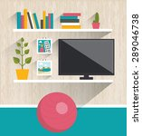 living room interior. tv and... | Shutterstock .eps vector #289046738