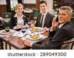 confident business partners in... | Shutterstock . vector #289049300