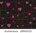background with funny heart | Shutterstock . vector #28905523