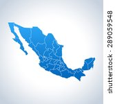 map of mexico | Shutterstock .eps vector #289059548