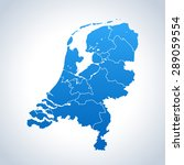 map of netherlands | Shutterstock .eps vector #289059554