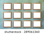 wood picture frame on vintage... | Shutterstock . vector #289061360