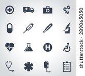 vector black medical icon set | Shutterstock .eps vector #289065050
