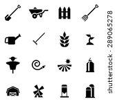 vector black farming icon set... | Shutterstock .eps vector #289065278
