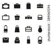 vector black bag icon set. | Shutterstock .eps vector #289065296
