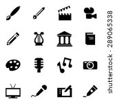 vector black art icon set.   Shutterstock .eps vector #289065338