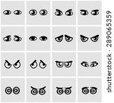 vector black cartoon eyes icon... | Shutterstock .eps vector #289065359