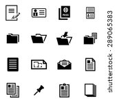 vector black document icon set. | Shutterstock .eps vector #289065383