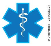 emergency star   medical symbol ... | Shutterstock .eps vector #289066124