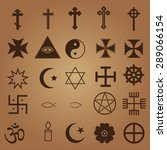 25 religious icons | Shutterstock .eps vector #289066154