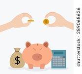 piggy bank   money saving  ... | Shutterstock .eps vector #289068626