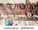 Old Vinrtage Tools On The Wall