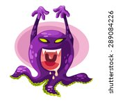 spooky monster | Shutterstock .eps vector #289084226