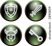 dark 3d button fantasy | Shutterstock .eps vector #2890859